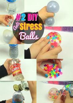 DIY Stress ball Craft ideas: #2 Simple Glittering Liquid Orbeez Stress Ball