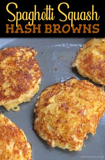 Low Carb Breakfast Idea: Spaghetti Squash Hash Brown (easy & delish!)