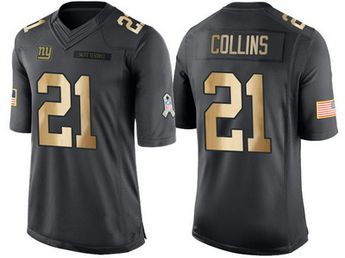 dfdaf532a Giants  21 Landon Collins 2016 Christmas Day Anthracite Gold Salute to  Service Jersey