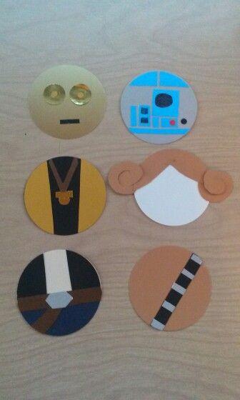 Star Wars door decs. Includes C3PO, R2D2, Luke Skywalker, Leia Skywalker, Han Solo, and Chewbacca.
