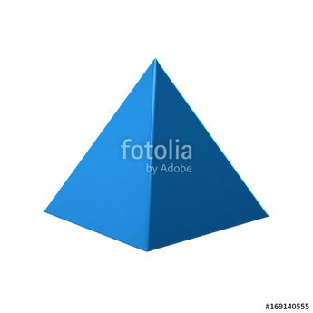 """""""Blue Pyramid on white background. 3D Rendering Illustration"""" Stock photo and royalty-free images on Fotolia.com - Pic 169140555"""