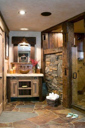 Holz im Badezimmer - Landhausstil im Bad für entspannende Atmosphäre - #Atmosphäre #Bad #Badezimmer #entspannende #für #holz #im #Landhausstil #salledebain