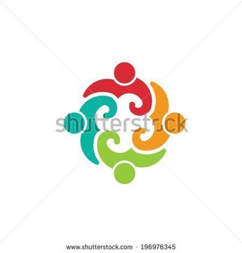Team Volunteer 4 image. concept of community help, allies, teammates