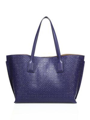 LOEWE Small Logo-Embossed Leather Shopper. #loewe #bags #leather #hand bags #tote #