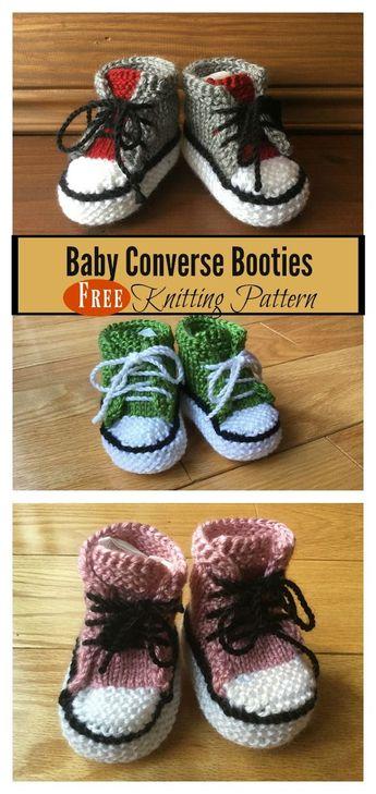Baby Converse Booties Free Knitting Pattern