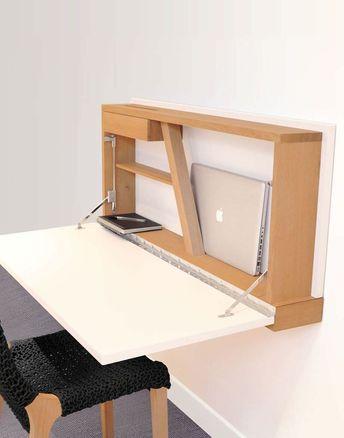 Holz-Schreibtisch / modern / wandmontiert - #modern #schreibtisch #wandmontiert - #Genel