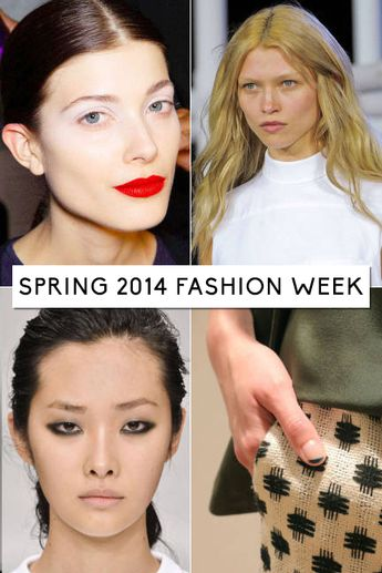 Take a look at the top trends from Spring 2014 Fashion Week.  #fashionweek