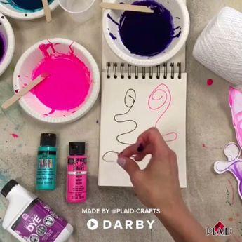 How to Create Easy Pulled String Art #darbysmart #diy #diyprojects #diyideas #diycrafts #easydiy #artsandcrafts #ideasforkids