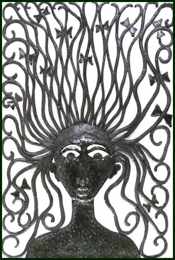 Wild Hair Woman Metal Art Wall Hanging  Haitian by HaitianMetal, $82.95