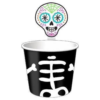 Spritz Halloween Skeleton Treat Cups - 8ct