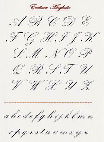 Calligraphie anglaise                                                                                                                                                                                 Plus