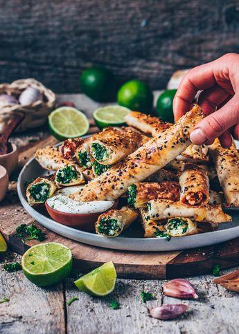 Turkish Borek Recipe (Vegan Spinach Rolls