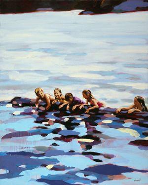"""Saatchi Art Artist Elizabeth Lennie; Painting, """"On Rabbit Lake"""""""