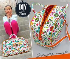 Compact Quilted Duffle with Handles & Adjustable Strap: Dritz Hardware | Sew4Home