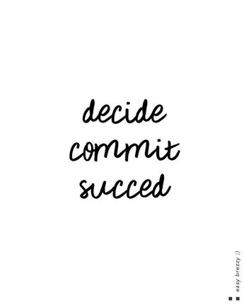 Decide, Commit, Succeed High Neck Tank
