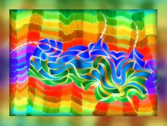 RUNA kunst:  Das Wellentier / Filzstifte-Digital, RZ © 1997-20...
