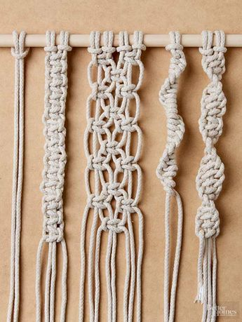 Follow this easy step-by-step guide to tying four must-know macrame knots. #macrameknots #macrame #homedecor