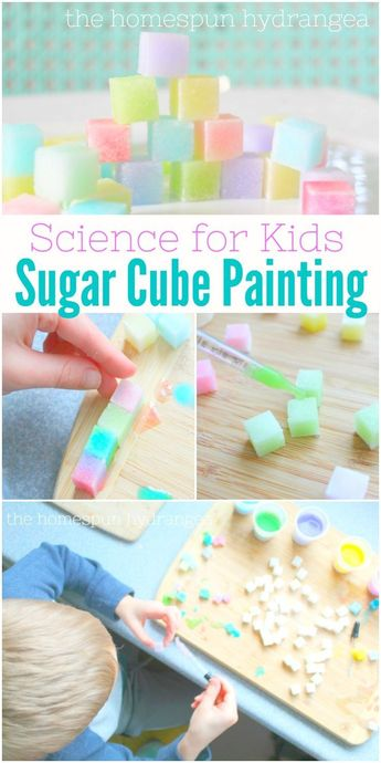 Water Color Sugar Cubes Science Experiment for Kids! #STEM #ScienceforKids #Scie... -  Lyla Marsh - #color #cubes #Experiment #Kids #Scie #Science #ScienceforKids #STEM #Sugar #water