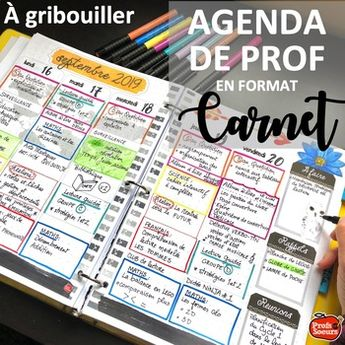 Planificateur 2019-2020 Agenda Prof / FRENCH TEACHER PLANNER