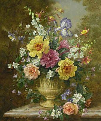 Bouquet of Summer Flowers - Cross stitch pattern pdf format by diana70