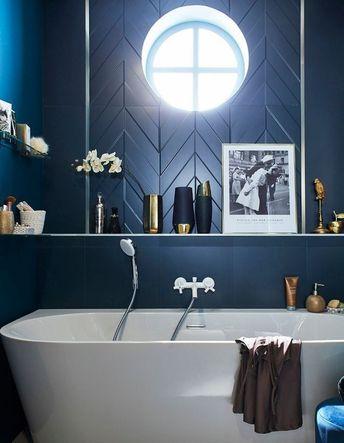 La décoration bleu marine nous inspire, et vous ? - Elle Décoration