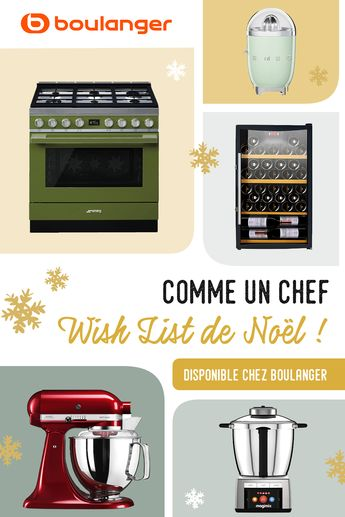 Trouvez le nécessaire pour devenir un vrai cuisinier et épatez vos amis et votre famille pour Noël ! Des ustensiles au piano de cuisson, les plus grandes marques aux meilleurs prix se trouvent chez Boulanger. Un chef sommeil en vous !