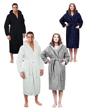 Hooded Terry Bathrobe for Women and Men 6bf252756