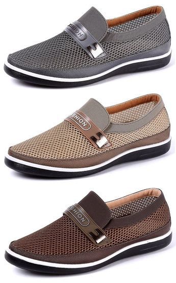US$31.87 Men Breathable Wear-resistant Soft Sole Slip On Casual Shoes#shoes #slippers #simple #homedecor #summer