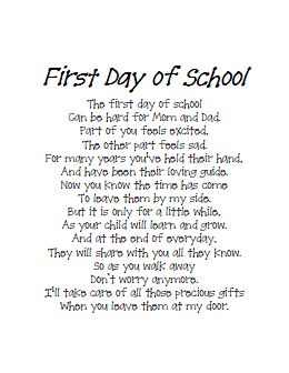 feelings on the first day of school