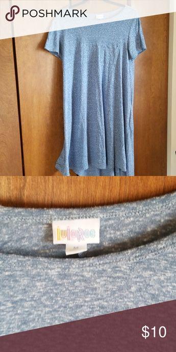 Lularoe Carly Heather blue Lularoe Carly size M LuLaRoe Dresses High Low