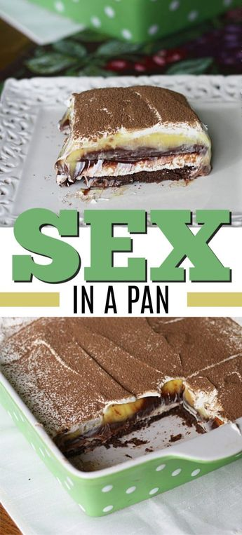 Sex in a Pan. It's delicious, almost impossible to resist and always goes over big. Don't worry about finding room in the fridge for leftovers, because there won't be any! #sexinapan #chocolate #dessert #onepandessert #chocolatedreamdessert #creamcheese #coolwhip #amandascookin