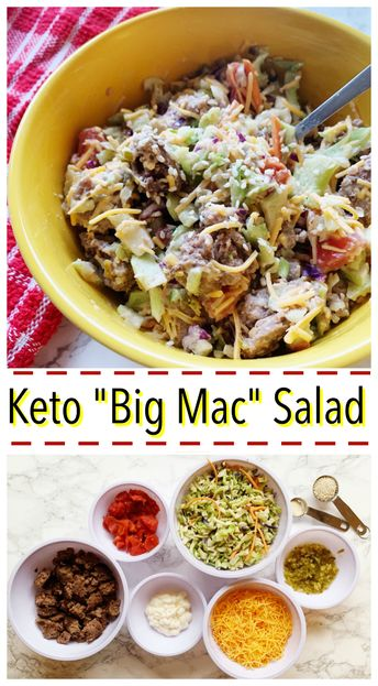 Big Mac Salad - Keto and Low Carb - Linneyville