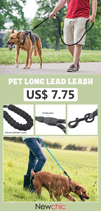 【50% off】5 Colors Reflective Strong Pet Long Lead Leash Large Dog Running Rope Safety Leash.#dog #leash #pet