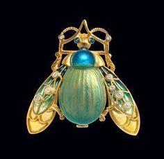Masriera pendant brooch. Spanish jeweller Luis Masriera