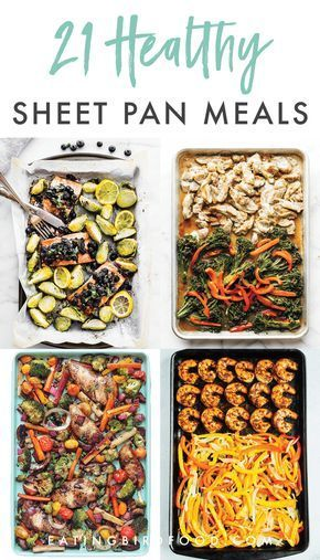 Is there anything better than making an entire meal on one pan? No there is not. I rounded up 21 healthy sheet pan recipes for you for super simple meals this week!