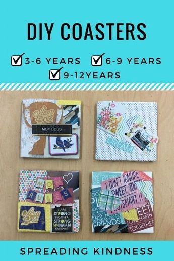 DIY Coasters Tutorial ~ A Perfect Gift for Mom