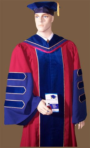 Complete Doctoral Regalia For Stanford University