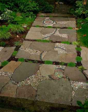 37 Magnificent DIY Mosaic Garden Path Decorations For Your Inspiration