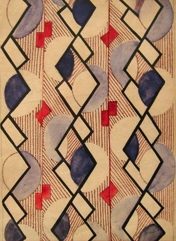 Suprematist pattern design by Olga Rozanova, ca.1917-18, Moscow.