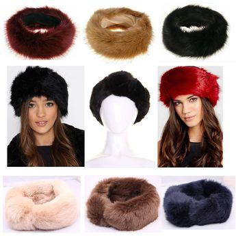 7774b0d39dd New Russian FOX Faux Fake Fur Hat HeadBand Winter Earwarmer Hat.  Yesterday s price  US