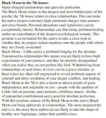Black Moon Lilith and what it means when it is located on t