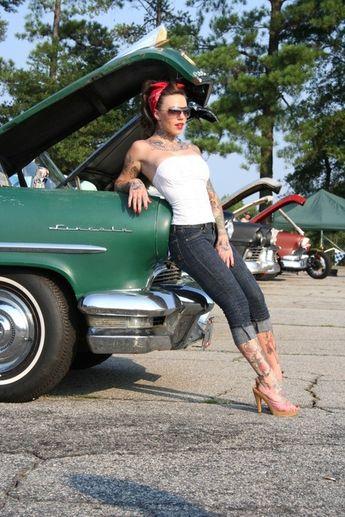 pinup-hotrod: Hotrod Pinup  #model #hotrods #girl #ratrod