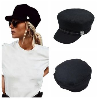 Winter Hats Unisex Octagonal Cap Casual Wool Button Baseball Caps Sun Visor  Hat Gorras Casquette Touca 5ac2b80a9ad3