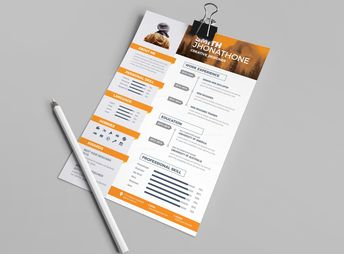 Medusa Professional Resume Design Template - Graphic Templates