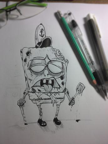 Zombie SpongeBob by Lucas César, via Behance