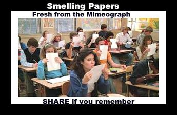 Age Test_Education_love to smell the paper just printed on a mimeograph