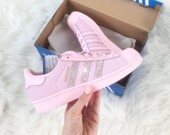 Adidas Superstar Original hecho con cristales de SWAROVSKI® Xirius Rose -  Semi rosado resplandor 2e78feea3a49