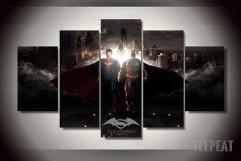 Batman vs Superman Painting - 5 Piece Canvas LIMITED EDITION