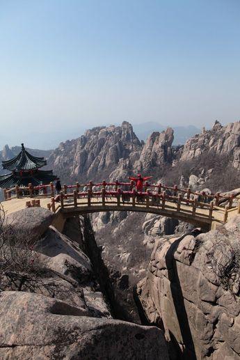 Bridge in the mountains   Qingdao, Shandong, China