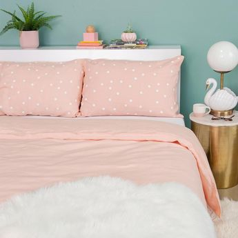 Blush Linen Duvet Coverby Castle